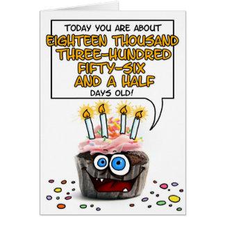 Happy Birthday Cupcake - 50 years old Greeting Card