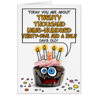 Happy Birthday Cupcake - 57 years old Greeting Card