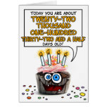 Happy Birthday Cupcake - 60 years old Greeting Cards