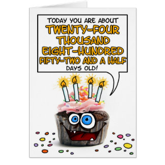 Happy Birthday Cupcake - 67 years old Card
