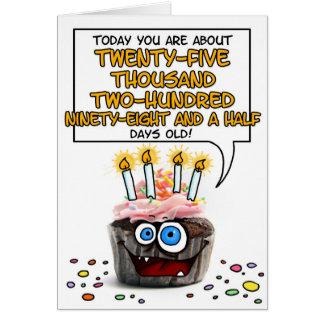 Happy Birthday Cupcake - 69 years old Card