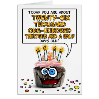 Happy Birthday Cupcake - 71 years old Greeting Card