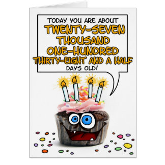 Happy Birthday Cupcake - 74 years old Card