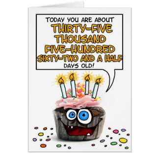 Happy Birthday Cupcake - 97 years old Card