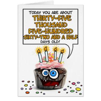 Happy Birthday Cupcake - 97 years old Greeting Card