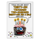 Happy Birthday Cupcake - 99 years old Card