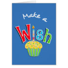 Happy Birthday Cupcake and Candle Greeting Card
