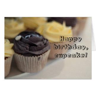 Happy birthday cupcake card greeting card