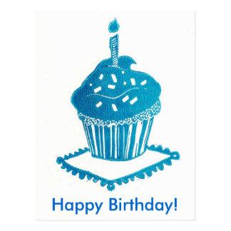 Happy Birthday Cupcake Card Postcard