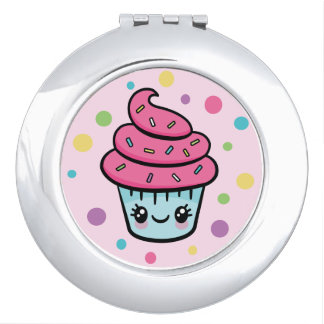 Happy Birthday Cupcake compact mirror