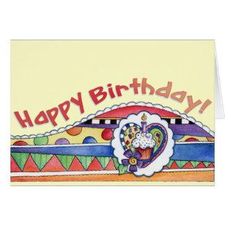 Happy Birthday Cupcake - Greeting Card