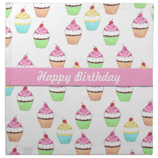 Happy Birthday Cupcake Napkins