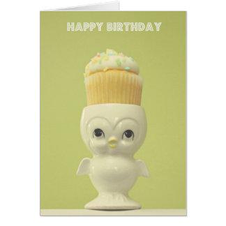 Happy Birthday Cupcake Owl Card