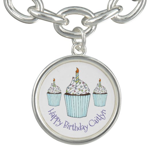 Happy Birthday Cupcake Personalised Party Favour