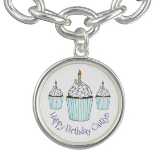 Happy Birthday Cupcake Personalized Party Favor