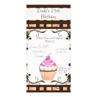 Happy Birthday Cupcake Custom Photo Card