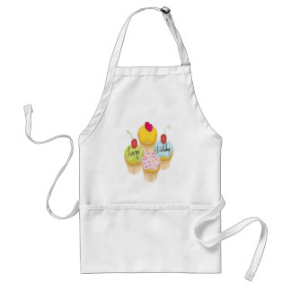 Happy birthday cupcakes design apron