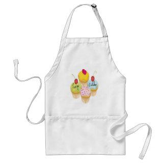 Happy birthday cupcakes design standard apron