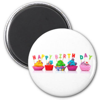 Happy Birthday Cupcakes - Magnet