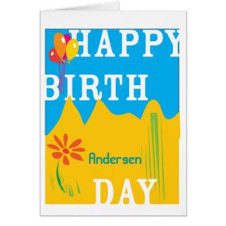 Happy Birthday Custom Celebration Note Card