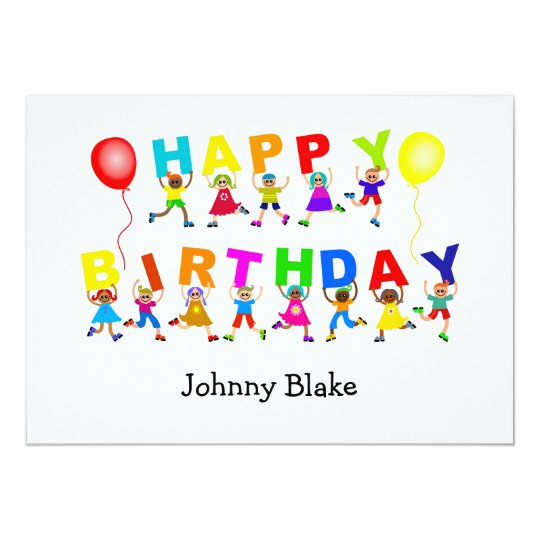 Happy Birthday, Custom Kids Party Invitations