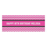 Happy Birthday Custom Year Name Banner