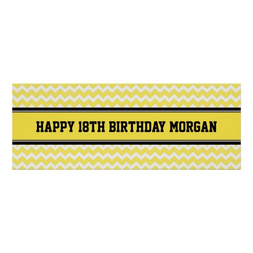 Happy Birthday Custom Year Name Banner Posters