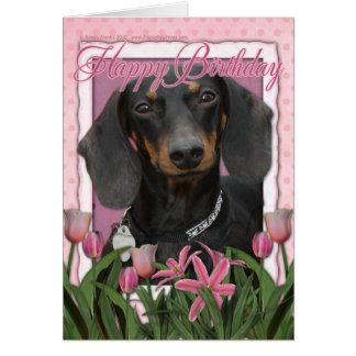 Happy Birthday - Dachshund - Winston Card