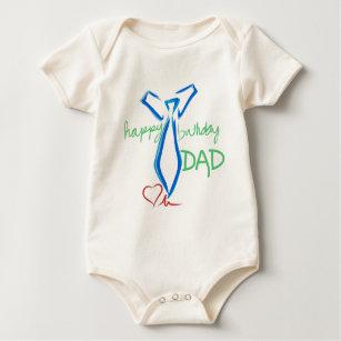Happy Birthday Dad Baby Bodysuit