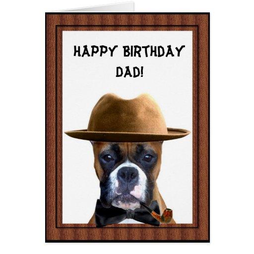 Happy Birthday dad boxer greeting card