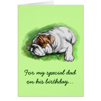 Happy Birthday Dad: Bulldog Greeting Card