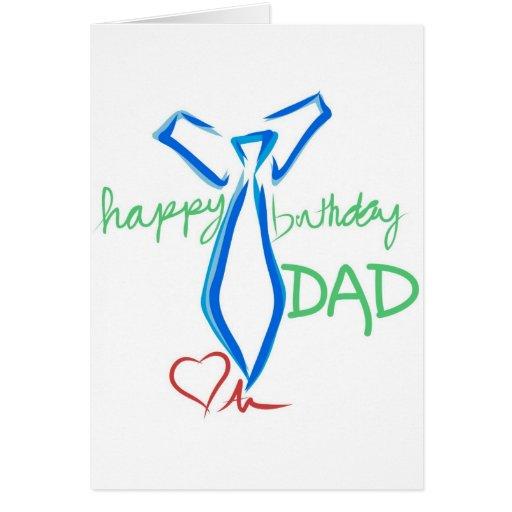 happy  birthday dad greeting card