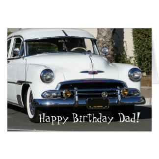 Happy Birthday Dad Classic white car card