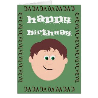 Happy Birthday Dad (Daughter) Greeting Card