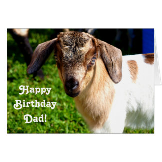 Happy Birthday Dad from Favorite Kid (with Goat) Card