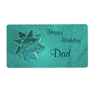 Happy Birthday Dad Gift Tag Shipping Label