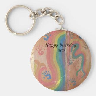Happy Birthday Dad-graphics Key Ring