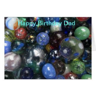 Happy Birthday Dad Marbles Card