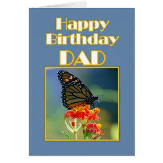 Happy Birthday Dad Monarch Butterfly Card