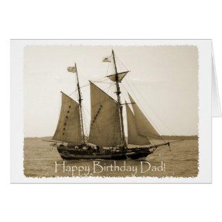 Happy Birthday Dad - Old Ship Greeting Card