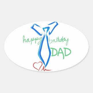 happy  birthday dad oval sticker