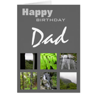 Happy Birthday Dad Photo Template Card Greeting Cards