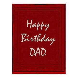 Happy Birthday Dad Post Card