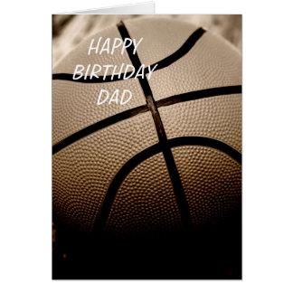Happy Birthday Dad Sepia Basketball Greeting Card