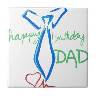 happy  birthday dad small square tile