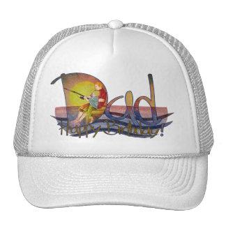 Happy birthday dad & son fishing thank you hats
