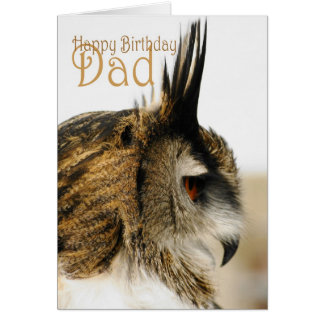 Happy Birthday Dad with Eagle Owl Greeting Cards