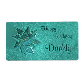 Happy Birthday Daddy Gift Tag Shipping Label