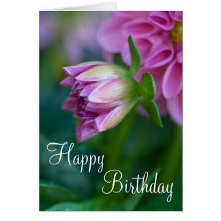 Happy Birthday Dahlia Card