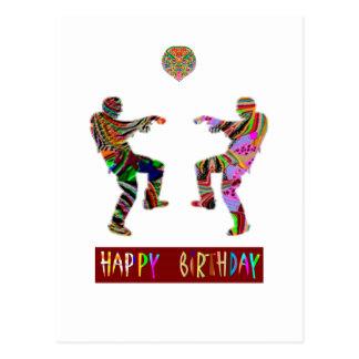 Happy Birthday Dance Postcard